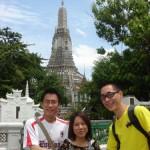 Yaomin, Surang and me at Wat Arun