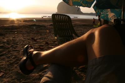 Chilling on Pak Meng Beach